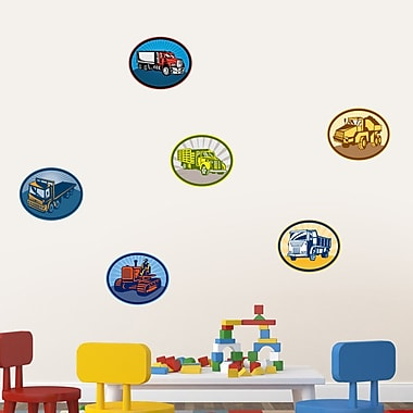SweetumsWallDecals Trucks Printed Wall Decal; 10'' H x 12'' W