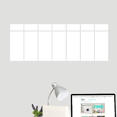 SweetumsWallDecals This Week Dry Erase Calendar Printed Wall Decal; 13'' H x 36'' W