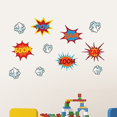 SweetumsWallDecals Super Hero Comic Book Words Printed Wall Decal; Small