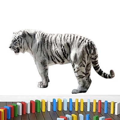 SweetumsWallDecals Real Life White Tiger Printed Wall Decal; 22'' H x 36'' W