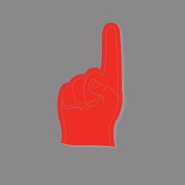 SweetumsWallDecals Foam Finger Printed Wall Decal; 17'' H x 9'' W