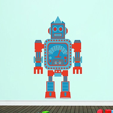 SweetumsWallDecals Robot Printed Wall Decal; 36'' H x 21'' W