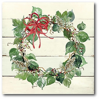 The Holiday Aisle 'Christmas Wreaths' Graphic Art Print on Canvas