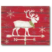 The Holiday Aisle 'Reindeer' Graphic Art Print on Canvas