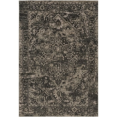 Bloomsbury Market Angus Black/Khaki Indoor/Outdoor Area Rug; 5'3'' x 7'3''