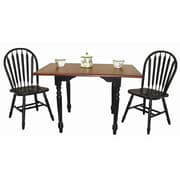 Darby Home Co Drop Leaf Dining Table; Antique Black / Cherry
