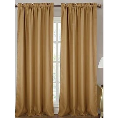 Darby Home Co Delrico Solid Blackout Thermal Rod Pocket Single Curtain Panel; Gold