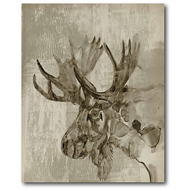 Loon Peak 'Sepia Moose' Graphic Art Print on Wrapped Canvas