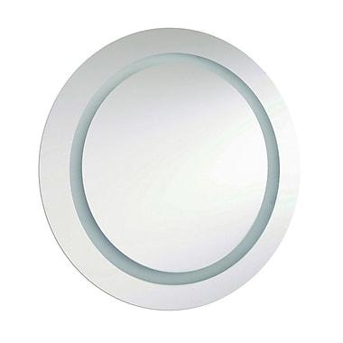 Orren Ellis Smetana Round Illuminated Mirror