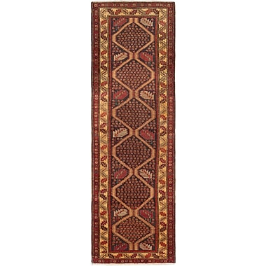 Bloomsbury Market Holloway Hand-Knotted Black/Dark Red Area Rug