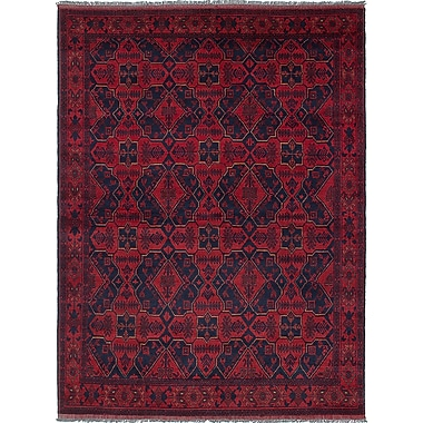 Bloomsbury Market Rosales Hand-Knotted Red/Navy Area Rug