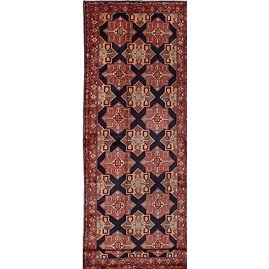 Bloomsbury Market Lin Hand-Knotted Wool Blue Area Rug