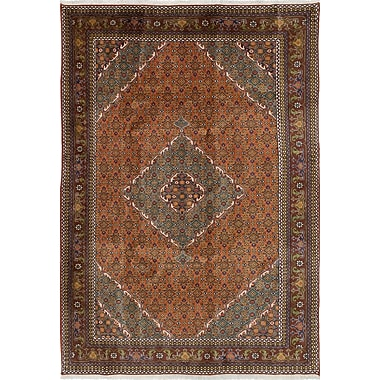 Bloomsbury Market Lin Hand-Knotted Copper Area Rug