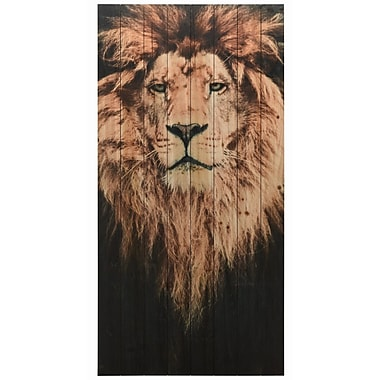 Bloomsbury Market 'Lion 1' Graphic Art Print on Wood