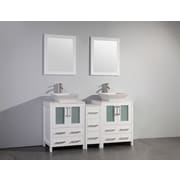 Brayden Studio Mehara 60'' Double Bathroom Vanity Set w/ Mirror; White