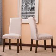 Alcott Hill Trefethen Classic Parson Dining Chair (Set of 2); Beige