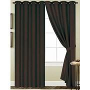 August Grove Monaca Solid Semi-Sheer Single Curtain Panel; Chocolate