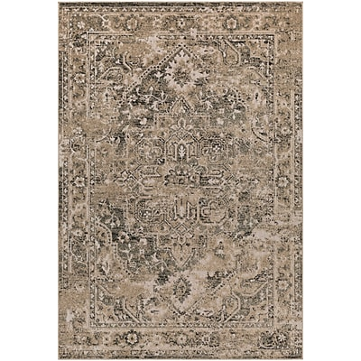 Bloomsbury Market Angus Khaki/Black Indoor/Outdoor Area Rug; 2' x 3'