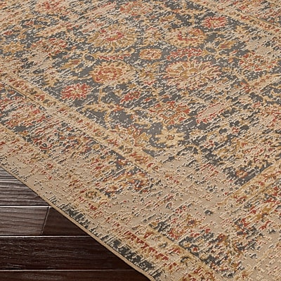 Bloomsbury Market Cerys Neutral Eclectic Brown Area Rug; 2'2'' x 3'