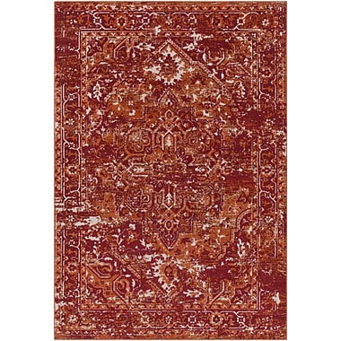 Bloomsbury Market Angus Burnt Orange/Dark Red Indoor/Outdoor Area Rug; 2' x 3'