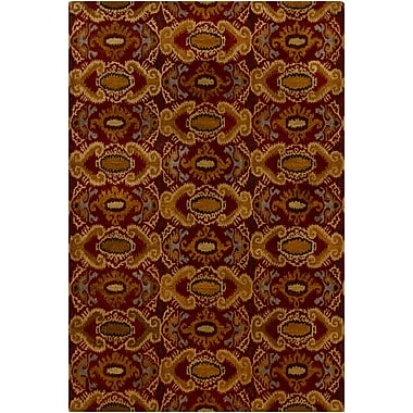 Bloomsbury Market Dwell Brown/Red Abstract Area Rug; 5' x 7'6''