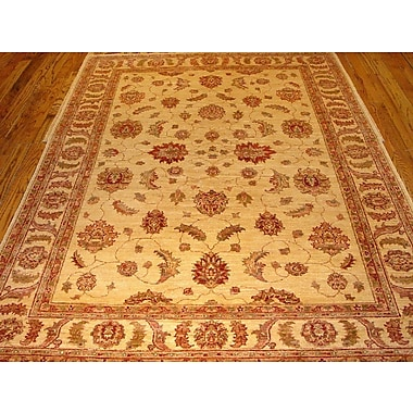 Pasargad Sultanabad Hand Knotted Wool Ivory Area Rug