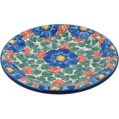 Polmedia Flowers in Bloom Polish Pottery Decorative Plate