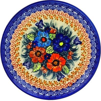 Polmedia Butterfly Splendor Polish Pottery Decorative Plate