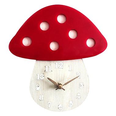 Pasargad Acrylic Mushroom 8'' Wall Clock (Set of 10)