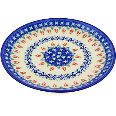 Polmedia Tulips and Diamonds Polish Pottery Decorative Plate