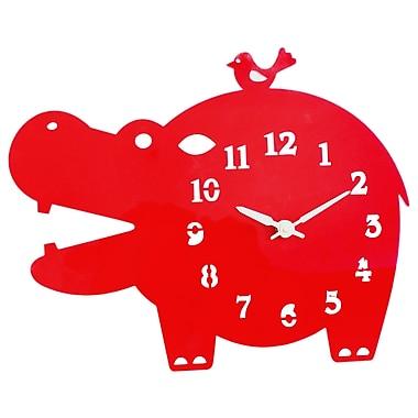 Pasargad Acrylic Hippo Hanging Analog Wall Clock (Set of 10)