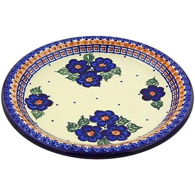Polmedia Greek Poppies Polish Pottery Decorative Plate