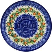 Polmedia Elegant Garland Polish Pottery Decorative Plate