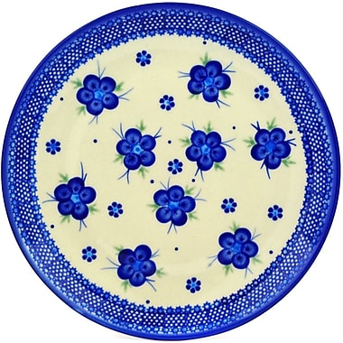 Polmedia Bleu-Belle Fleur Polish Pottery Decorative Plate