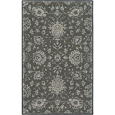 Charlton Home Keefer Hand-Tufted Wool Dark Brown Area Rug; 5' x 8'