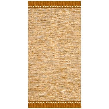 Harriet Bee Zyra Hand-Woven Gold/Gray Area Rug; 8' x 10'