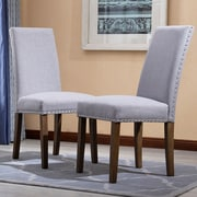 Alcott Hill Trefethen Classic Parson Dining Chair (Set of 2); Gray