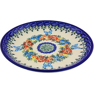Polmedia Cornflower and Butterflies Polish Pottery Decorative Plate