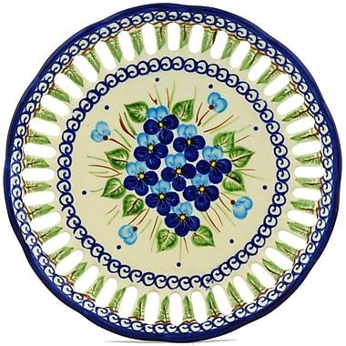 Polmedia Pansy Polish Pottery Decorative Plate