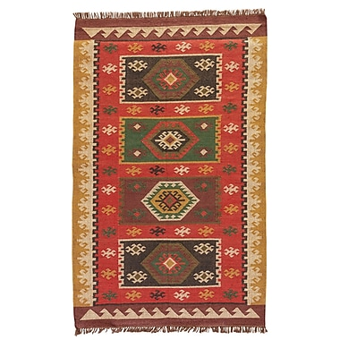Bloomsbury Market Addre Hand-Woven Red/Yellow Area Rug; 2' x 3'