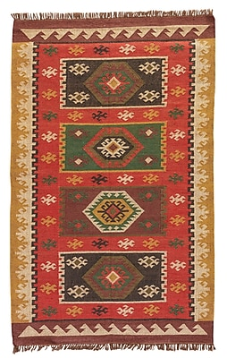 Bloomsbury Market Addre Hand-Woven Red/Yellow Area Rug; 5' x 8'