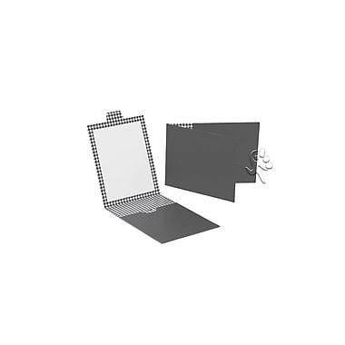 Creative Bag - Housse pour carte-cadeau avec motif pied-de-poule, 4,88 x 3,5 po, vert glacier, 20/paquet
