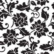 Creative Bag ? Papier-cadeau de qualité supérieure, 24 po x 85 pi, brocart floral, 1 rouleau
