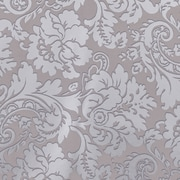 "Creative Bag Premium Gift Wrap, 24"" x 417', Silver Brocade Damask, 1 Roll"