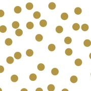 """Creative Bag Premium Gift Wrap, 24"""" x 417', White with Gold Dots, 1 Roll"""