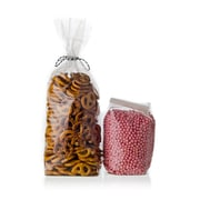 "Creative Bag Econo Hard Bottom Candy Bag, Clear, 4"" x2.5"" x13"", 100/Pack"