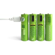 Smartoools AA MicroBattery USB Recharge Ni-MH, 4/Pack