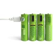 Smartoools - Piles Ni-MH AA rechargeable avec micro-USB, paq./4