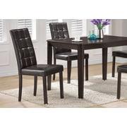 Monarch – Chaise de salle à manger en similicuir, hauteur de 38 po, brun foncé, 2/paquet (I 1171)