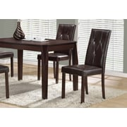 "Monarch I 1181 Dining Chair, 38""H, Dark Brown Leather, 2/Pack"